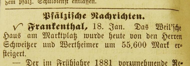 Förderverein für jüdisches Gedenken Frankenthal - Wertheimer